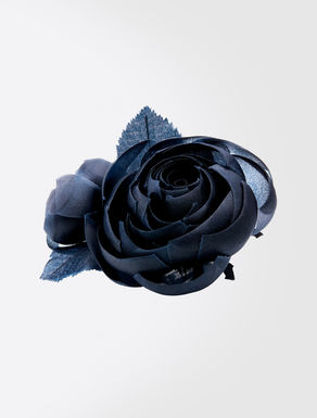 Organza flower brooch