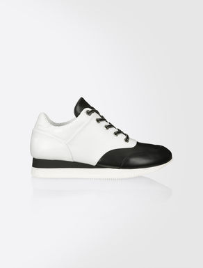 Sneakers color block en cuir