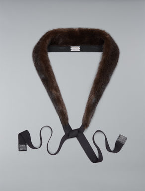 Mink fur hood trim