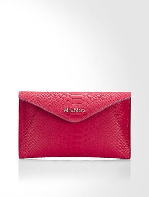 Python print leather clutch