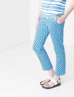 Pantaloni slim a disegno geometrico
