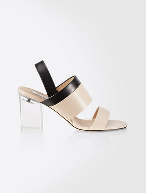 Two tone nappa sandals