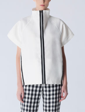 Bluse aus Cady und Leinen  Bluse aus Cady und Leinen