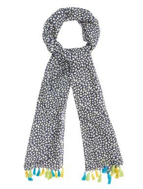Sciarpa di cotone/seta con nappine