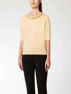 Silk and wool knit top