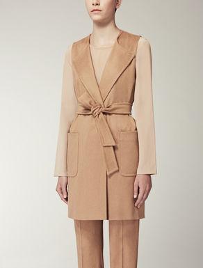Pure camel waistcoat