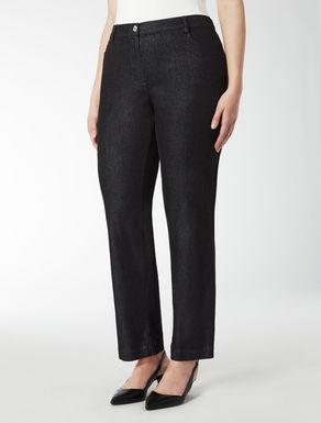 Pantalone in denim lurex