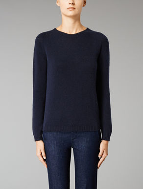 Boxy cashmere knit top