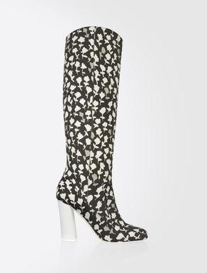Cotton gabardine boots