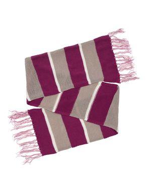 Sciarpa di maglia a righe