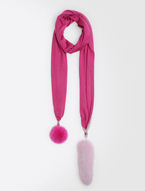 Cashmere, viscose and silk scarf