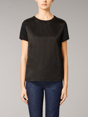 Viscose satin T-shirt