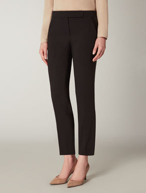 Wool crêpe cady trousers