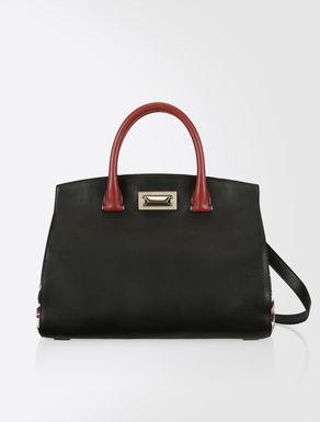 Nappa and leather bag