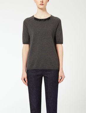 T-shirt in seta e cotone