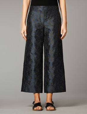 Wide jacquard trousers