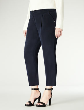 Pantalone in seta lavata affusolato
