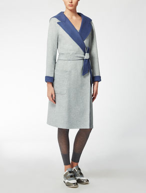 Cappotto reversibile in lana e angora