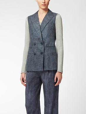 Silk, linen and wool waistcoat