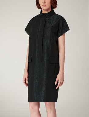 Printed jacquard cotton dress.