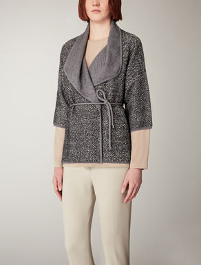 Cardigan in jacquard tweed