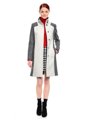 Cappotto in lana bi-colore