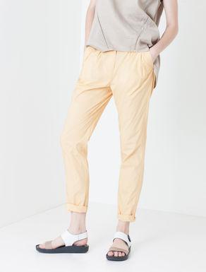 Pantaloni carrot fit di popeline