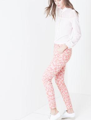 Pantaloni skinny a fantasia jacquard
