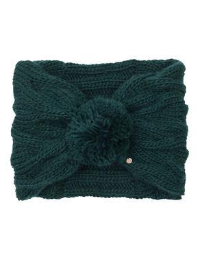 Collo di maglia con pompon