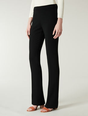 Pantaloni in crêpe di lana stretch