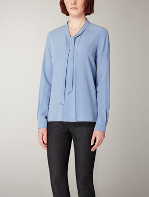 Viscose and silk shirt