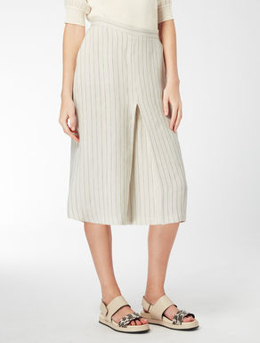 Pin-stripe linen skirt