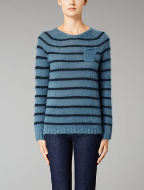 Boxy mohair knit top