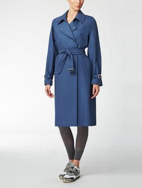 Reversible cotton trench coat