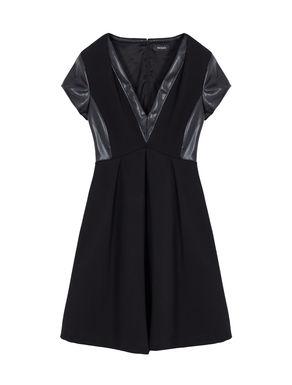 Corolla Dress di jersey con intarsi