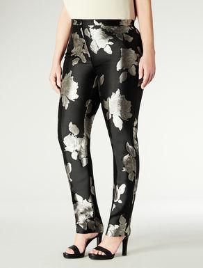 Pantalone in jacquard stampato