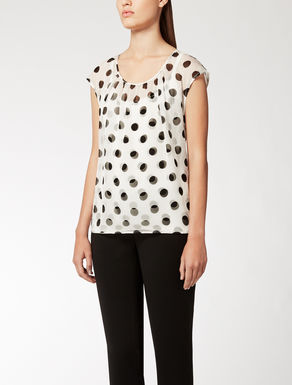 Top in jersey e chiffon