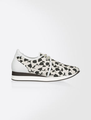 Printed fabric sneakers