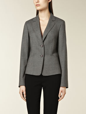 Wool blazer with masculine cut