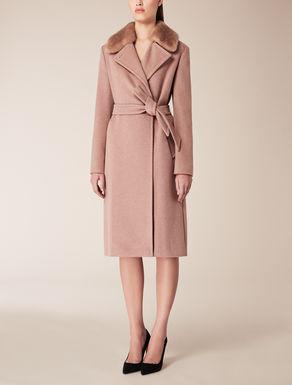 Cappotto in lana, seta e angora