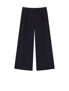 Pantaloni cropped wide fit