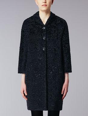 Astrakhan effect coat