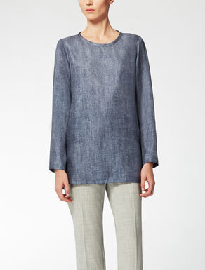 Camisa en sarga de seda