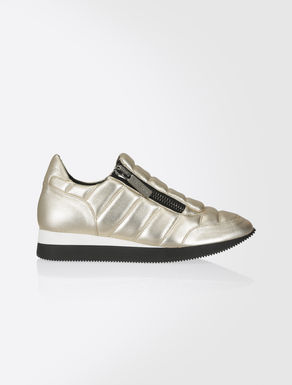 Laminated Nappa leather sneakers