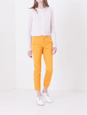 Pantaloni slim fit di faille stretch