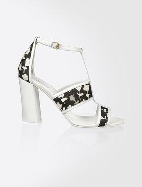 Cotton gabardine sandals