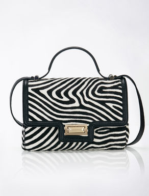 Hollywood printed ponyskin bag