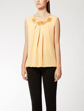 Silk georgette top