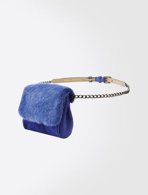 Belt with mink clutch