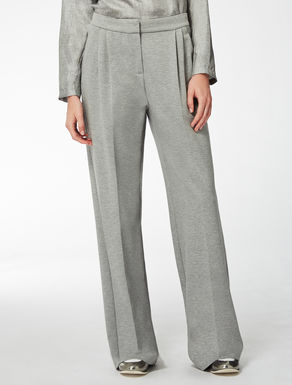 Wide viscose jersey trousers